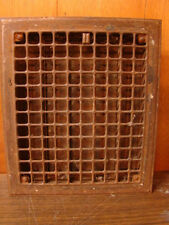 VINTAGE 1920S IRON HEATING GRATE SQUARE DESIGN 14 X 12 A