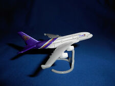 THAI AIRWAYS Jet Airplane AIRBUS A380 Airliner Plastic Toy Kinder Surprise Plane