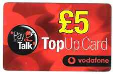 15 year old top up Vodafone  phonecard used.
