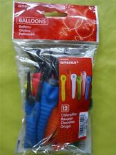 12 CATERPILLAR BALLOONS - CHILDREN'S PARTY - NOVELTY DESIGN - ASSORTED COLOURS
