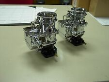 2 brand new 1932 Ford roadster coupe Chrome Stromberg 97 Carb carburetors