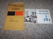 1964 Harley Davidson Flathead 45 Servicar Trike Owner Manual User Guide ORIGINAL