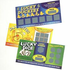 Fake Lucky Scratch Cards Prank Novelty Joke Gift Set - Guaranteed Winners!