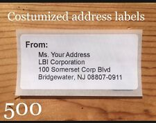 500 Shipping Label Stickers COSTUME with YOUR ADDRESS envelope/package