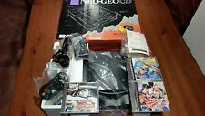 NEOGEO CD CONSOLE SNK TOP LOADING + BOX NEO GEO + 3 GAMES
