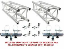 Two 6.56' (2 meter) Square Aluminum Truss Segments+2 Truss Adapters+4 Couplers