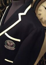 RALPH LAUREN POLO WOMANS WOOL WIMBLEDON BLAZER.  NAVY.    SIZE 18W RRP:£570
