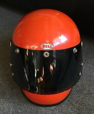 VINTAGE BELL STAR TOPTEX HELMET 1970, SIZE 7 3/8 MARINE International ORANGE