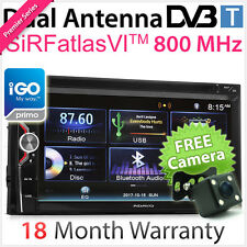"6.75"" Double 2 DIN In Dash Car DVD GPS Digital TV DVB-T MPEG-4 Player Stereo AT"