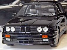 "1/18 BMW M3 E30 STREET 1987 ""BLACK"" MINICHAMPS RARE RETRO VINTAGE MODEL"