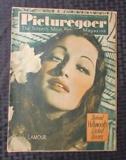 1938 PICTUREGOER Weekly Movie Magazine Feb 5th #350 GD- Dorothy Lamour