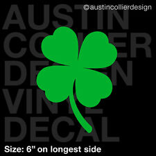 "6"" FOUR LEAF CLOVER vinyl decal car truck window laptop sticker - lucky charm"