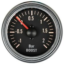 100% Made in Taiwan 52mm Chrome Rim Mechanical Boost Gauge