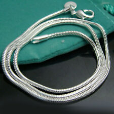 "Wholesale Solid Silver Jewelry Snake Bone Chain Unisex Necklace 3MM 20"" NA192"