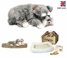 Precious Petzzz SCHNAUZER Lifelike Breathing Cute Puppy Dog Birthday Pet Gift UK