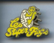 RARE PINS PIN'S .. SPORT RUGBY CLUB TEAM SUPER FROGS GRENOUILLE FROG ~W1