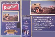 BURMA SHAVE SEALED VHS VIDEO JINGLES HISTORY MINNEAPOLIS MN AD CAMPAIGN/1920-60s