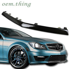 Carbon Mercedes BENZ W204 C63 2D 4D C-Class LCI Front Bumper Center Lip Cover