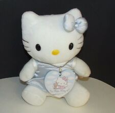 "Sanrio Hello kitty angel 8"" plush blue dress heart tag wings stuffed animal doll"