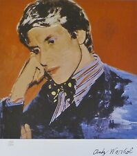 ANDY WARHOL Yves Saint Laurent B SIGNED + HAND NUMBERED 1372/2400 LITHOGRAPH
