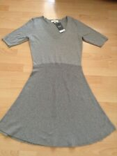 """Bnwt """" Next """" Size 12 Grey Knitted Ladies Dress Casual Day Work Flared Skirt New"""