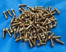 BBS RM 012 6,5x15  Schrauben M7x24 Gold Felgenschrauben Goldschrauben vergoldet