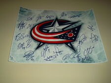 Columbus Blue Jackets Team Signed 16x20 Photo 19 Autographs NHL Hockey Picture