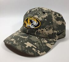 Mizzou University of Missouri Tigers Army Digital Camo Nike One Size Cap Hat EUC