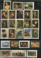 Russia 25 Diff. Painting Series Art Used Stamps USSR # 12955