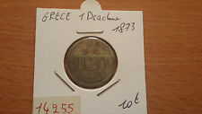 GRECE 1 DRACHME 1873 - OLD GREECE COIN - REF14255