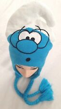 Blue White Knit SMURFS Adult One Size Fits All - Costume Stocking Cap