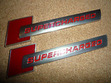 2 x Audi sovralimentato BADGE Rosso e Argento s1 s3 s4 s5 rs3 rs4 rs5 RS TT S-LINE