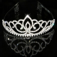 Wedding Bridal Womens Girls Pageant Prom Crystal Rhinestone Tiara Crown Headband