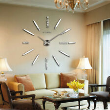 Modern DIY 3D Mirror Sticker Wall Clock Luxury Style Art Home Office Decor Xmas