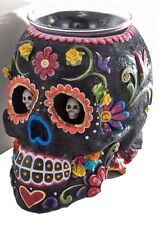 Katherine's Collection Halloween Skull Vase Candy Dish Day of the Dead Black NEW