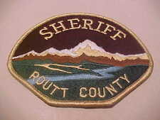 ROUTT COUNTY COLORADO POLICE PATCH **** FREE SHIP IN USA ****  T3