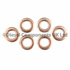 AUDI A4 (8E2, B6) 2.5 TDI DIESEL INJECTOR WASHERS / SEALS PACK OF 6 (DCS124)