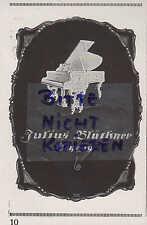 LEIPZIG, Werbung 1926, Julius Blüthner Flügel & Pianos Tasten-Instrument Klavier
