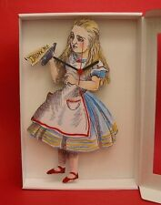 Alice in Wonderland Wooden Wall Clock Tenniel Literary Art Daughter Xmas Gift