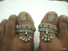 vintage toe ring antique tribal old silver big toe ring pair traditional jewelry