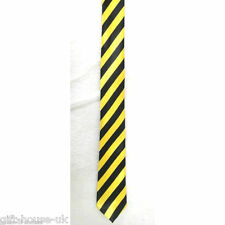 RED AND WHITE STRIPES MENS TIES SLIM SOLID SATIN PARTY WEDDING TIE NECKTIE B4