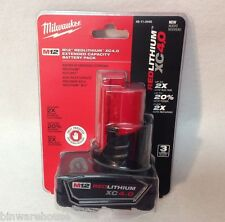Milwaukee 48-11-2440 New M12 12v Red Lithium XC 4.0 Ah Battery Sealed NIP
