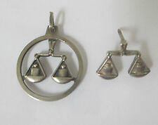 VINTAGE ANSON STERLING SILVER 925 SCALES OF JUSTIC LEGAL PENDANT TIE TACK PIN