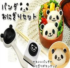 2pc Set Cute Panda Sushi Rice Mold Nori Punch Bento Box DIY Kitchen Cooking Tool