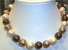 8mm Multi-Colored South Sea shell Pearl Beads Necklace 18""