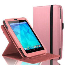 "360 Rotating Slim Leather Case Smart Cover Stand For Google Nexus 7"" Tablet Pink"