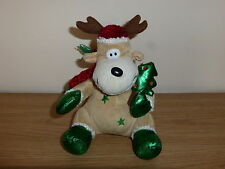 Christmas Reindeer Soft Toy Tree Star Scarf Hat Decoration Kids Cute Cuddly Gift