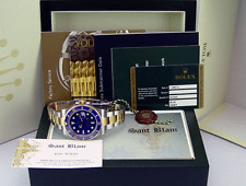 ROLEX - 2016 Never Worn Gold & SS SUBMARINER Ceramic Blue Index Dial - 116613