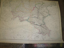 Russia SE +SW map from Dispatch Atlas1960 engraved JW Lowry -62x 43Framed 40more