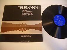 TELEMANN LP TROIS CONCERTOS POUR FLUTE ET HAUTBOIS.ENSEMBLE ARS REDIVIVA.